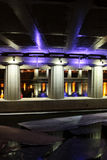 Night view on Moscow bridges Royalty Free Stock Photo