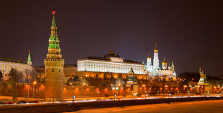 Night view of Moscow Kremlin, Russia Royalty Free Stock Image