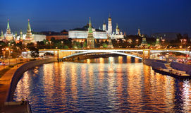 Night view of Moscow kremlin Royalty Free Stock Images