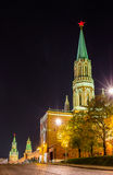 Night view of Moscow Kremlin Stock Images