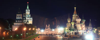 Night view of Moscow Royalty Free Stock Photography