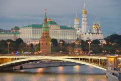 Night view of Moscow Kremlin Royalty Free Stock Photography