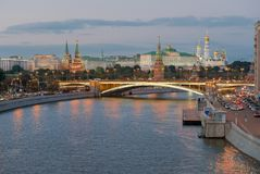 Night view of Moscow Kremlin Royalty Free Stock Image