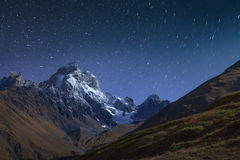 Night view of Mt. Ushb Royalty Free Stock Photos