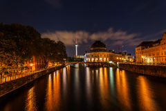 Night view of the Museumsinsel in Berlin Royalty Free Stock Photography