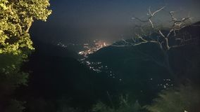 Night view. My city Night view from the top of mountain Royalty Free Stock Images