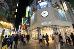 Night view of Myeongdong street in Seoul, South Korea Stock Photography