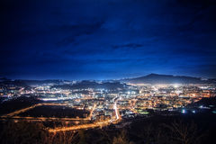 Night view of naples Royalty Free Stock Images