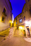 Night view of  narrow street of Cuenca Royalty Free Stock Images