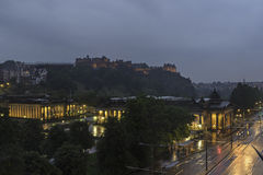 Night view of National Gallery of Scotland in princes street, Edinburgh Royalty Free Stock Image