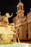 Night view of Navona square Stock Photos