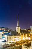 Night view of Neumunster in Luxembourg. Night view of Neumunster in GD of Luxembourg, Europe Royalty Free Stock Image