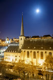Night view of Neumunster in Luxembourg. Night view of Neumunster in GD of Luxembourg, Europe Stock Image
