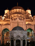 Night view of New Mosque, Istanbul, Turkey Stock Photos
