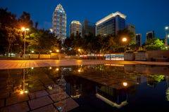 Night view of new Taipei city Royalty Free Stock Image