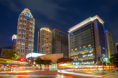 Night view of new Taipei city Royalty Free Stock Images