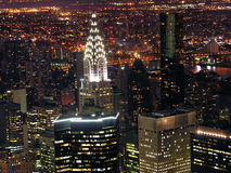 Night View of New York City royalty free stock image