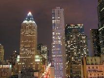 Night View of New York City Stock Image