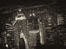 Night View of New York City Royalty Free Stock Images