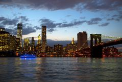 Night view of New York Royalty Free Stock Photography
