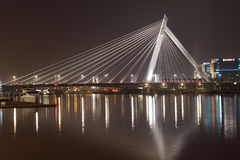 Night view of ningbo Bund Bridge. The night view of Ningbo Bund bridge.Photo taken in ningbo city,China Stock Images