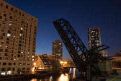 Chicago River night view Royalty Free Stock Photography