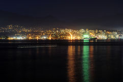 Night view of North Vancouver Stock Image