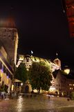 Night view of Nuremberg after rain, Bavaria Stock Images