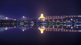 Night view od Nanning, China. Modern city at night, Nanning, China Royalty Free Stock Image