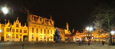 Night View Of Brugge, Belgium Royalty Free Stock Image