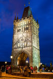 Night View Of Charles Bridge Royalty Free Stock Images