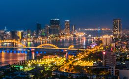 Free Night View Of Da Nang Over Han River In Vietnam Royalty Free Stock Photo - 161664325