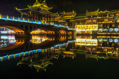 Night View Of Fenghuang Royalty Free Stock Photo