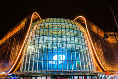 Night View Of Galeria Katowicka Mall Royalty Free Stock Images