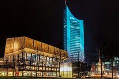Night View Of Gewandhaus Royalty Free Stock Images