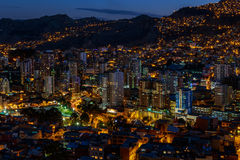 Free Night View Of Illuminated La Paz Megapolis, Bolivia, South America Stock Photo - 87466110