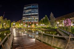 Free Night View Of Iulius Town, A City In A City, Timisoara, Romania Royalty Free Stock Photography - 159926887