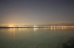 Night View Of Jordanean Coast Stock Images