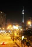 Night View Of Kuala Lumpur Downtown Royalty Free Stock Photos
