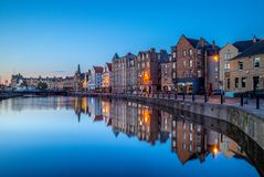Free Night View Of Leith By The River Royalty Free Stock Photography - 120725587