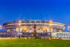 Free Night View Of New Soccer `Saint-Petersburg Arena` On Krestovsky Island In St. Petersburg For The World Cup 2018 Royalty Free Stock Photo - 93891715