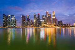 Night View Of Singapore Skyline Royalty Free Stock Images