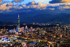 Free Night View Of Taipei City With Nice Color, Taiwan Stock Image - 70725921