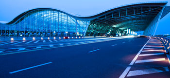 Night View Of The Airport Royalty Free Stock Images
