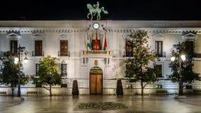 Free Night View Of The Granada City Hall Facade Stock Photos - 124275593