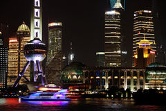 Free Night View Of The Shanghai Lujiazui Finance And Trade Zone Skyline. Royalty Free Stock Photos - 40438908