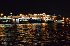 Night View Of The St Petersburg Stock Photography