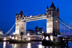 Night View Of The Tower Bridge In London Stock Images