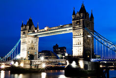 Night View Of The Tower Bridge In London Royalty Free Stock Images