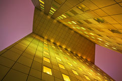 Night view of an office building Royalty Free Stock Image